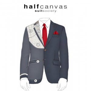 half canvas suit jacket
